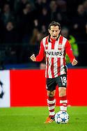 EINDHOVEN, PSV - VFL Wolfsburg, voetbal Champions League groepsfase, seizoen 2015-2016, 3-11-2015, Philips Stadion, PSV speler Andres Guardado viert de 2-0 overwinning.