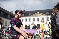 Tiffany Cromwell (AUS) of CANYON//SRAM Racing waits for Stage 2 of the Ladies Tour of Norway - a 140.4 km road race, between Sarpsborg and Fredrikstad on August 19, 2017, in Ostfold, Norway. (Photo by Balint Hamvas/Velofocus.com)