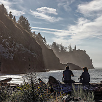 Coffee time at Cape Disappointment.  Located at the extreme southwest of the state of Washington, Cape Disappointment State Park is a hidden gem in the Pacific Northwest.