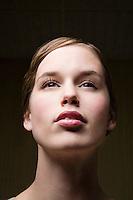 Pensive young woman portrait