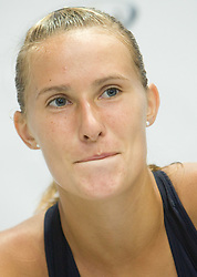 Polona Hercog of Slovenia at press conference after 1st Round of Banka Koper Slovenia Open WTA Tour tennis tournament, on July 21 2009, in Portoroz / Portorose, Slovenia. (Photo by Vid Ponikvar / Sportida)