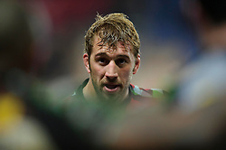 Harlequins Flanker (#7) Chris Robshaw (capt) looks on as he debriefs his side in a huddle after the match - Photo mandatory by-line: Rogan Thomson/JMP - Tel: Mobile: 07966 386802 06/01/2013 - SPORT - RUGBY - Kassam Stadium - Oxford. London Welsh v Harlequins - Aviva Premiership.