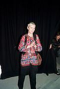 ANNIE LENNOX, Stillness at the Speed of Light exhibition. Chris Levine series of  portraits of  Grace Jones.  VINYL FACTORY. POLAND ST. LONDON. 29 APRIL 2010 *** Local Caption *** -DO NOT ARCHIVE-© Copyright Photograph by Dafydd Jones. 248 Clapham Rd. London SW9 0PZ. Tel 0207 820 0771. www.dafjones.com.<br /> ANNIE LENNOX, Stillness at the Speed of Light exhibition. Chris Levine series of  portraits of  Grace Jones.  VINYL FACTORY. POLAND ST. LONDON. 29 APRIL 2010