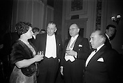 17/2/1966<br /> 2/17/1966<br /> 17 February 1966<br /> <br /> An Taoiseach Mr. Sean Lemass T.D.. (second from the left) chatting with Mrs. E. Sydney Gibson; Mr. E. Sydney Gibson (third form left), President Federation of Irish Industries and Mr D.D. Frame Former President of Federation of Irish Industry
