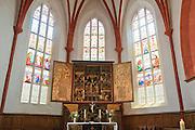 Meißen, Altstadt, Liebfrauenkirche innen, Altar, Sachsen, Deutschland. .old town of Meissen, church of Our Lady, altar, Saxony, Germany.