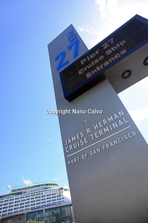 Pier 27, James R. Herman Cruise Terminal in port of San Francisco.