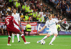 Toni Kroos of Real Madrid in action during the UEFA Champions League final football match between Liverpool and Real Madrid at the Olympic Stadium in Kiev, Ukraine on May 26, 2018.Photo by Sandi Fiser / Sportida