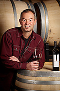 Portrait of Long Shadows Vintner's winemaker, Gilles Nicault in Walla Walla, Washinngton