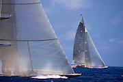 Hanuman and Ranger, J Class, sailing in the 2010 St. Barth's Bucket superyacht regatta, race 2.
