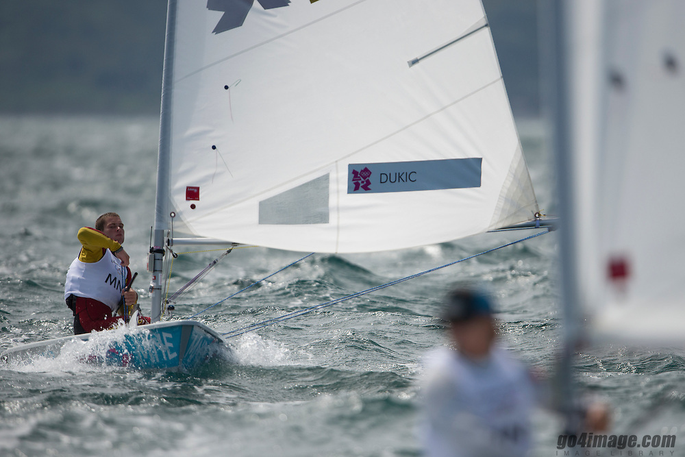 2012 Olympic Games London / Weymouth<br /> Racing day 1 Laser<br /> LaserMNE Dukic Milivoj