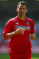 CARDIFF, WALES - SATURDAY, SEPTEMBER 3rd, 2005: Wales' Ryan Giggs warms-up before facing England during the World Cup Qualifier at the Millennium Stadium. (Pic by Chris Brunskill/Propaganda)