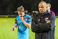 ARNHEM - 27-03-2017, Jong Vitesse - Jong AZ, Sport center Papendal, 2-2, teleurstelling, Jong AZ speler Robin Schouten, Kenneth Goudmijn.