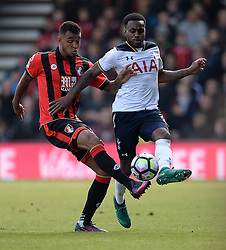 Joshua King of Bournemouth battles for the ball with Danny Rose of Tottenham Hotspur - Mandatory by-line: Alex James/JMP - 22/10/2016 - FOOTBALL - Vitality Stadium - Bournemouth, England - AFC Bournemouth v Tottenham Hotspur - Premier League