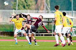 Alen Krcic of NK Bravo and David Tijanic of NK Triglav during football match between NK Triglav Kranj and NK Bravo in 17th Round of Prva liga Telekom Slovenije 2019/20, on November 10, 2019 in Sport Park Kranj, Kranj, Slovenia. Photo Grega Valancic / Sportida