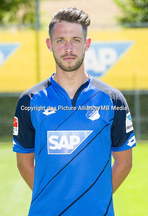 German Bundesliga - Season 2016/17 - Photocall 1899 Hoffenheim on 19 July 2016 in Zuzenhausen, Germany: Mark Uth. Photo: APF  | usage worldwide