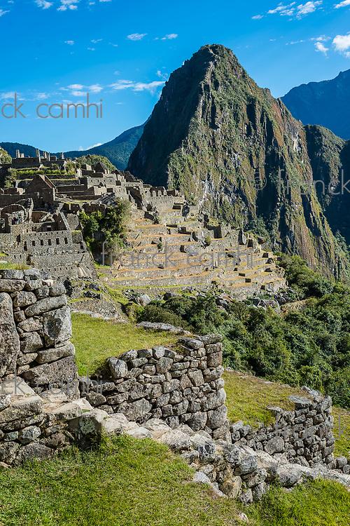 Machu Picchu, Incas ruins in the peruvian Andes at Cuzco Peru