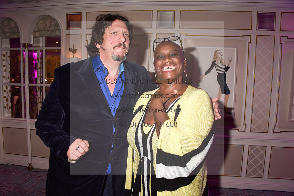 Jay Rayner and Andi Oliver at the 2017 Fortnum &amp; Mason Food &amp; Drink Awards held at Fortnum &amp; Mason, Piccadilly London England. 11 May 2017.<br /> Photo by Dominic O'Neill/SilverHub 0203 174 1069 sales@silverhubmedia.com