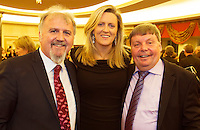 Ronan Scully and Ciara Tallon Gorta Self Help Africa and  Sean O Leidhinn Knocknacarra at the Gorta Self Help Africa Annual Ball at the Galway Bay Hotel, Salthill Galway.<br /> Photo:Andrew Downes, xposure.