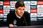 Rangers Manager Steven Gerrard during the Rangers Press Conference at Ibrox, Glasgow, Scotland on 3 October 2018. Picture by Colin Poultney.