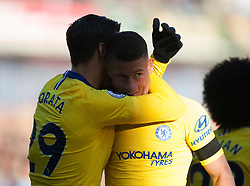 Ross Barkley of Chelsea (C) celebrates scoring his sides second goal - Mandatory by-line: Jack Phillips/JMP - 28/10/2018 - FOOTBALL - Turf Moor - Burnley, England - Burnley v Chelsea - English Premier League