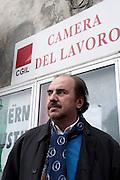 Casale Monferrato, Italy, feb.2010. Nicola Pondrano, INCA-CGIL. ritratto, portrait