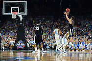 04 APR 2016: Guard Ryan Arcidiacono (15) of Villanova University shoots a three pointer against the University of North Carolina during the 2016 NCAA Men's Division I Basketball Final Four Championship game held at NRG Stadium in Houston, TX. Villanova defeated North Carolina 77-74 to win the national title. Brett Wilhelm/NCAA Photos