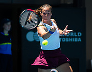 Daria Kasatkina of Russia in action during the first round at the 2020 Adelaide International WTA Premier tennis tournament against Belinda Bencic of Switzerland Photo Rob Prange / Spain ProSportsImages / DPPI / ProSportsImages / DPPI