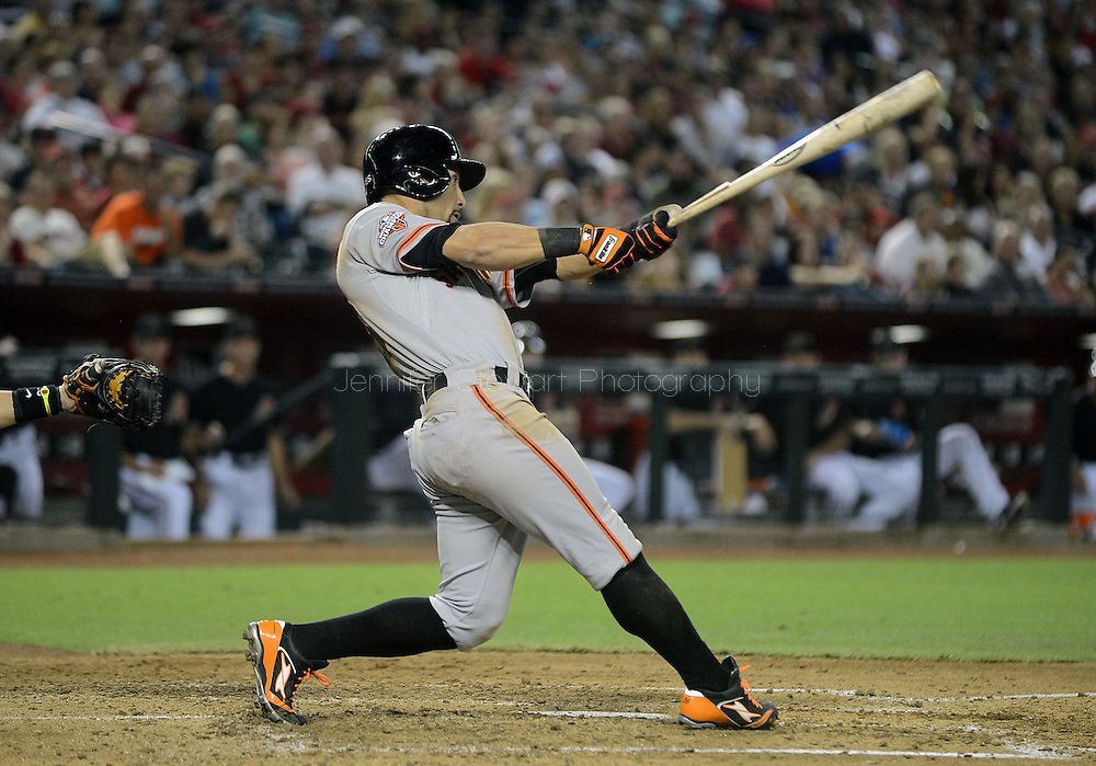 PHOENIX, AZ - JUNE 08:  Outfielder Andres Torres #56 of the San Francisco Giants at bat against the Arizona Diamondbacks at Chase Field on June 8, 2013 in Phoenix, Arizona. The Giants defeated the Diamondbacks 10-5.  (Photo by Jennifer Stewart/Getty Images) *** Local Caption *** Andres Torres