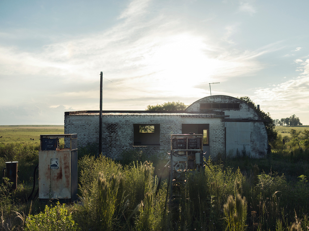 This old Petrol/Fuel/Gas Station has been abandoned for many years, situated on the Ruta 5, from Montevideo to Tacuarembo.