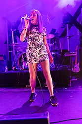 © Licensed to London News Pictures. 30/11/2013. London, UK.   Mausi performing live at O2 Islington Academy, supporting headliner Charli XCX.   Photo credit : Richard Isaac/LNP