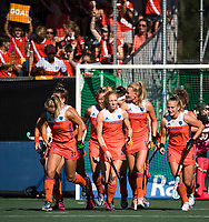 BREDA - Caia Van Maasakker (Ned) heeft gescoord  tijdens de finale  Nederland-Japan (8-2) van de 4 Nations Trophy dames 2018 . COPYRIGHT KOEN SUYK