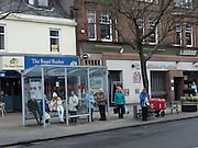 Bus stop.  Largs. Ayrshire. Scotland. 2 April 2016