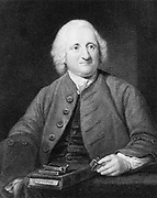 John Dollond (1706-1761) c1750, English optician. Inventor of the achromatic lens. Father of Peter Dollond and grandfather of George Dollond.  Engraving from 'The Gallery of Portraits' Vol III by Charles Knight (London, 1834). British. Scientist. Optics.