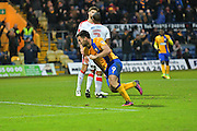 Mansfield Town forward Patrick Hoban (9) celebrates scores a goal 2-0 during the EFL Sky Bet League 2 match between Mansfield Town and Crawley Town at the One Call Stadium, Mansfield, England on 19 November 2016. Photo by Simon Trafford.