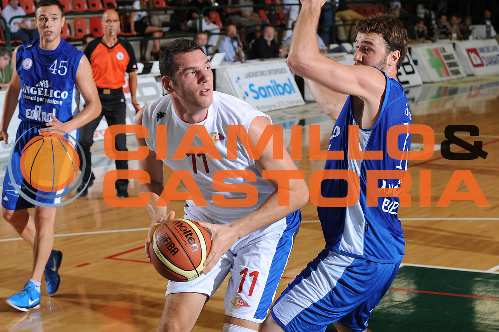 DESCRIZIONE : Ferrara Lega A 2011-2012 Trofeo NaturHouse Virtus Roma Angelico Biella<br /> GIOCATORE : Andrea Crosariol<br /> CATEGORIA : tiro<br /> SQUADRA : Virtus Roma <br /> EVENTO : Campionato Lega A 2011-2012<br /> GARA : Virtus Roma Angelico Biella<br /> DATA : 24/09/2011<br /> SPORT : Pallacanestro<br /> AUTORE : Agenzia Ciamillo-Castoria/M.Marchi<br /> Galleria : Lega Basket A 2010-2011  <br /> Fotonotizia : Ferrara Lega A 2011-2012 Trofeo NaturHouse Virtus Roma Angelico Biella<br /> Predefinita :