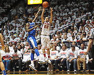 "Ole Miss' Marshall Henderson (22) vs. Kentucky's Archie Goodwin (10) at the C.M. ""Tad"" Smith Coliseum on Tuesday, January 29, 2013."