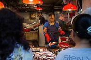 fish dealer in Sai Ying Pun, Hong Kong