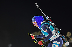 February 12, 2018 - Pyeongchang, Gangwon, South Korea - Darya Klimina of Kazakhstan  competing at Women's 10km Pursuit, Biathlon, at olympics at Alpensia biathlon stadium, Pyeongchang, South Korea. on February 12, 2018. (Credit Image: © Ulrik Pedersen/NurPhoto via ZUMA Press)
