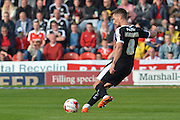 Conor Hourihane of Barnsley FC takes free kick during the Sky Bet League 1 match between Doncaster Rovers and Barnsley at the Keepmoat Stadium, Doncaster, England on 3 October 2015. Photo by Ian Lyall.