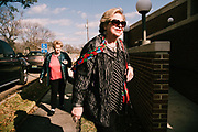 """ONEONTA, AL – DECEMBER 12, 2017: Oneonta resident Camilla Meeks, 73, enters a polling station at the Blount County Human Resources Center, where she will vote in Alabama's Special General Election for the United States Senate. """"Today is an important day for the country, and for the Republican Party,"""" she said. """"We need to stand united. I hope it goes to Roy Moore. I'm a republican, and we have to support our party. People aren't doing that like they should, and I think we should support him. I don't believe those reports about him are true, I think it's all a ploy by the Democratic party. But even if they were true, it wouldn't bother me."""" CREDIT: Bob Miller for The New York Times"""