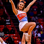 Ace 2017 Year In Review - UTEP Cheerleader Bailey in the Throwback Cheer uniforms during the ODU vs UTEP, Conference USA battle for 3rd place in the standings, Don Haskins Center, El Paso Texas