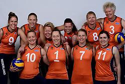 06-05-2014 NED: Selectie Nederlands zitvolleybal team vrouwen, Leersum<br /> In sporthal De Binder te Leersum werd het Nederlands team zitvolleybal seizoen 2014-2015 gepresenteerd / Teamfoto