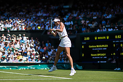 July 3, 2018 - London, U.S. - LONDON, ENGLAND - JULY 03: GARBINE MUGURUZA (ESP) during day two match of Wimbledon on July 3, 2018, at All England Lawn Tennis and Croquet Club in London, England. (Photo by Chaz Niell/Icon Sportswire) (Credit Image: © Chaz Niell/Icon SMI via ZUMA Press)