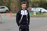 AFC Wimbledon defender Jon Meades (3) arriving for the game during the EFL Sky Bet League 1 match between AFC Wimbledon and Oxford United at the Cherry Red Records Stadium, Kingston, England on 10 March 2018. Picture by Matthew Redman.
