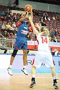 DESCRIZIONE : Riga Latvia Lettonia Eurobasket Women 2009 Qualifying Round Turchia Francia Turkey France<br /> GIOCATORE : Sandrine Gruda<br /> SQUADRA : Francia France<br /> EVENTO : Eurobasket Women 2009 Campionati Europei Donne 2009 <br /> GARA : Turchia Francia Turkey France<br /> DATA : 14/06/2009 <br /> CATEGORIA : tiro super<br /> SPORT : Pallacanestro <br /> AUTORE : Agenzia Ciamillo-Castoria/M.Marchi<br /> Galleria : Eurobasket Women 2009 <br /> Fotonotizia : Riga Latvia Lettonia Eurobasket Women 2009 Qualifying Round Turchia Francia Turkey France<br /> Predefinita : si