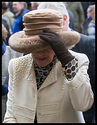 March 13, 2019 - Cheltenham, United Kingdom - Image licensed to i-Images Picture Agency. 13/03/2019. Cheltenham , United Kingdom. Windy day for The Duchess of Cornwall during Ladies Day on the second day of the Cheltenham Festival  (Credit Image: © Stephen Lock/i-Images via ZUMA Press)