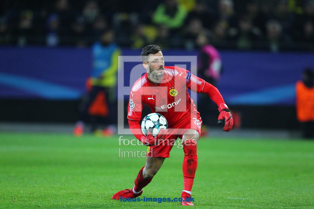Roman Burki of Borussia Dortmund  during the UEFA Champions League match at Signal Iduna Park, Dortmund<br /> Picture by Yannis Halas/Focus Images Ltd +353 8725 82019<br /> 21/11/2017