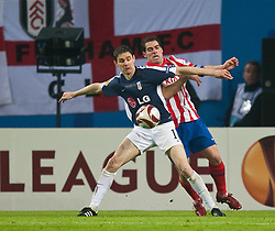 12.05.2010, Hamburg Arena, Hamburg, GER, UEFA Europa League Finale, Atletico Madrid vs Fulham FC im Bild Zoltan Gera, #11, Fulham FC, Antonio Lopez, #03, Atletico Madrid, EXPA Pictures © 2010, PhotoCredit: EXPA/ J. Feichter / SPORTIDA PHOTO AGENCY