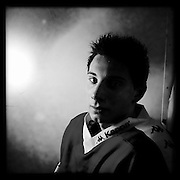 Ice Men Cometh…Martin Nikolov,17, Bulgaria..An iPhone portrait series on young men competing in the 2012 IIHF Ice Hockey World Championships Division 3. The tournament  was contested by countries New Zealand, Iceland, China, Bulgaria and Turkey at Dunedin Ice Stadium. Dunedin, Otago, New Zealand. 17th January 2012. Photo Tim Clayton