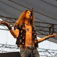 Led Zepplica performing at Decatur Celebration, Decatur, Illinois, August 2, 2014. Photo: George Strohl